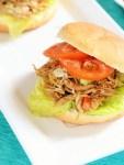 shredded chicken salad sandwich