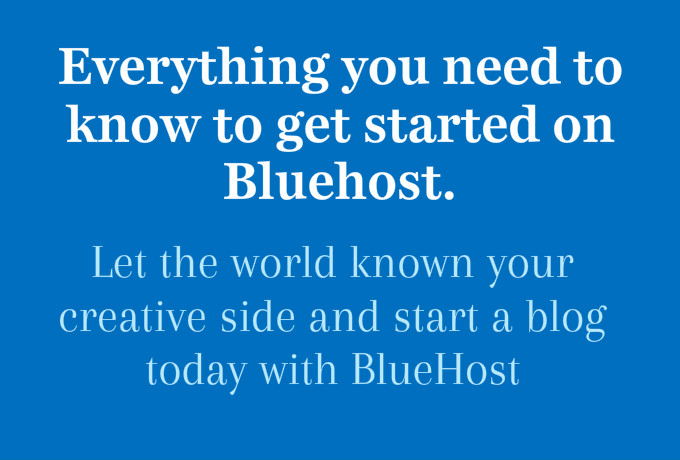 how to start a bluehost account