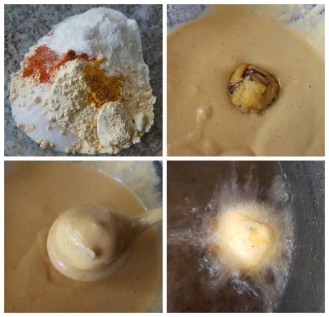 process of frying the mumbai batata vada recipe