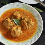A very tasty and delicious chettinad chicken curry made with roasted spices in a yogurt based gravy.