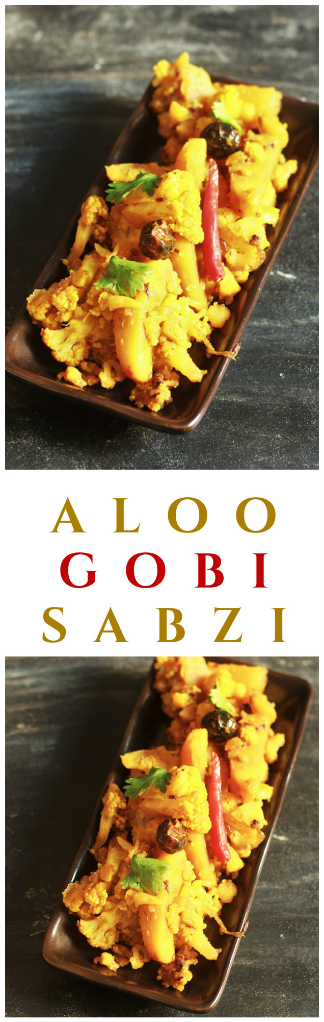 Aloo Gobi Recipe-How to make Dry Aloo Gobi-The aloo gobi recipe is nothing but a dry sabzi made with potato and cauliflower. It is very simple, easy and fast to make and everyone will love it from kids to adults #indianrecipes #aloogobi #halalrecipes #dryaloogobi
