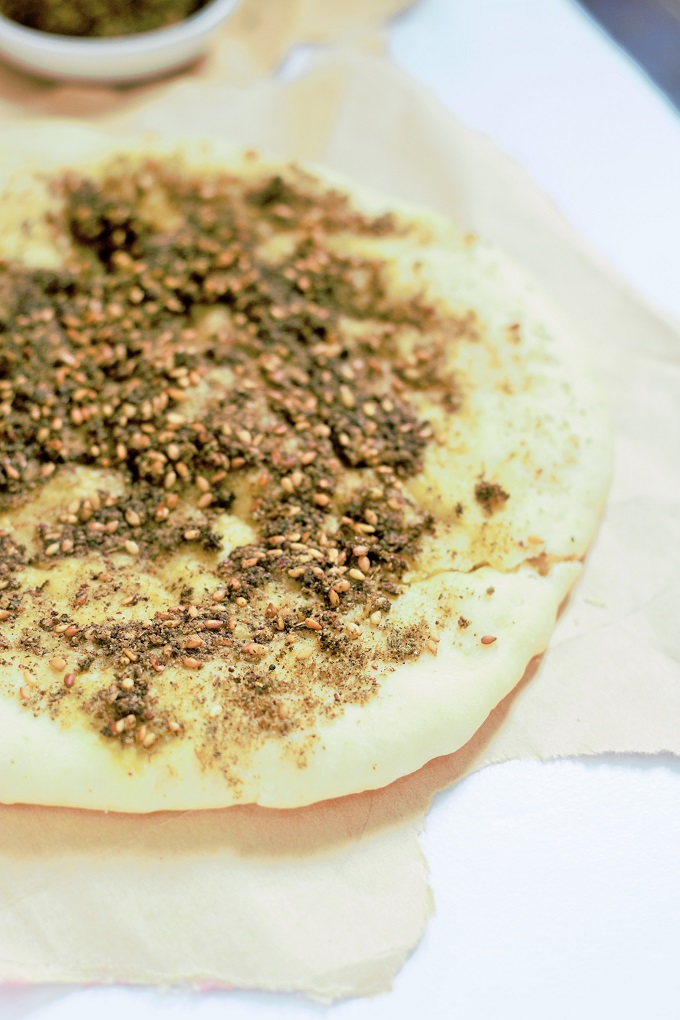 Zaatar Manakish Recipe - Manakeesh Zaatar recipe. Another version of the Arabic bread made with the Arabic spice known as Zaatar which is pretty famous with all the Arabs of every region