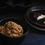 Fried Coconut Chutney Recipe - Tale huye Nariyal ki Chutney. A traditional coconut chutney which is fried first and later ground with tamarind to make an awesome side dish that goes well with rice or even dosa.