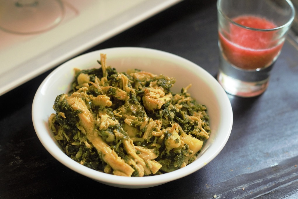 Palak Chicken recipe or the Spinach Chicken recipe. A very healthy and tasty dish made with aromatic spices.