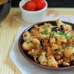 Cauliflower Poriyal recipe, How to make cauliflower poriyal