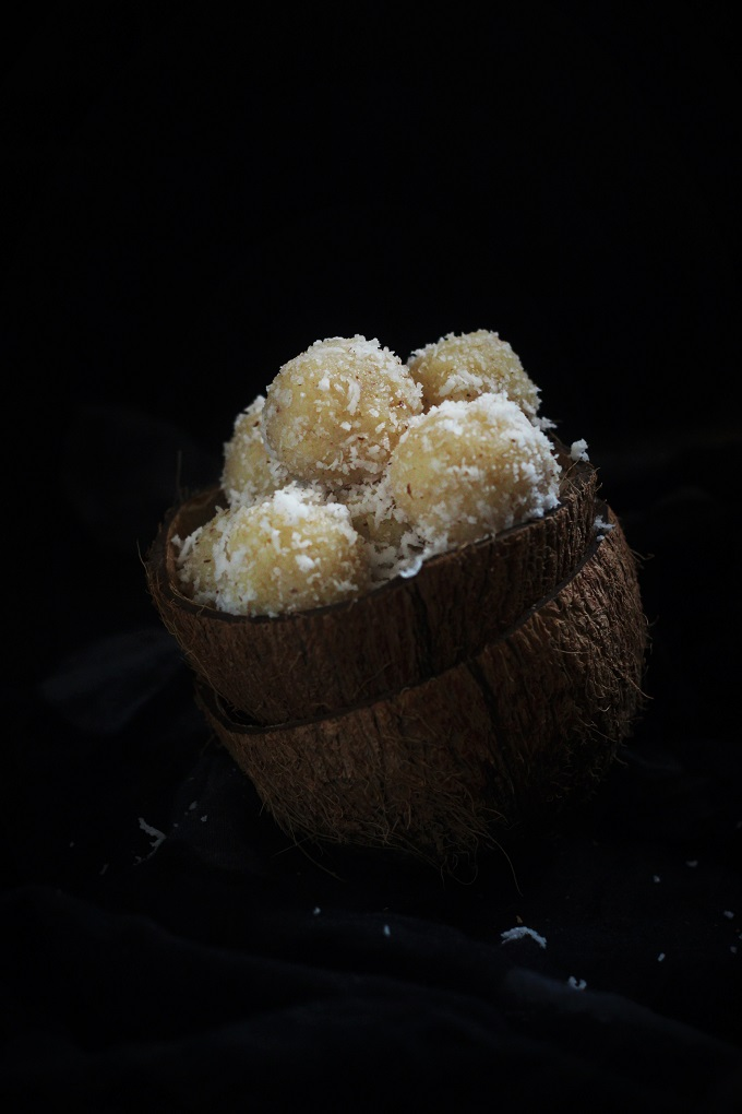 Coconut Ladoo with milkmaid recipe or the nariyal ladoo with the condensed milk. 2 ingredients, 5 minutes! That's all it takes to make this immensely popular Indian dessert, made to perfection with condensed milk with just two ingredients which will never fail you for the most soft and moist ladoos ever.