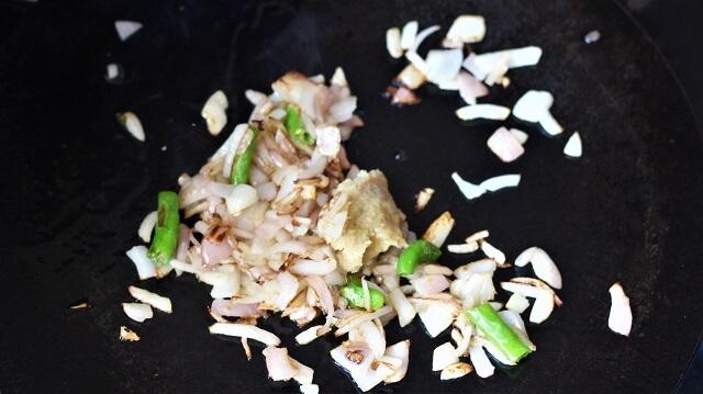 ginger garlic added to tawa chicken recipe