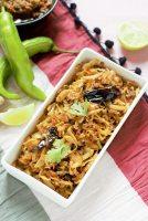 cabbage poriyal recipe in rectangular bowl