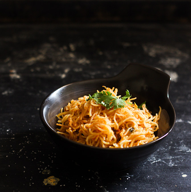 Vermicelli Upma, Seviyan Upma recipe, Masala Semiya. Call it by any name that you wish, but this is one of the best South Indian breakfast recipes for me.
