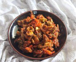 side view of karela sabji recipe