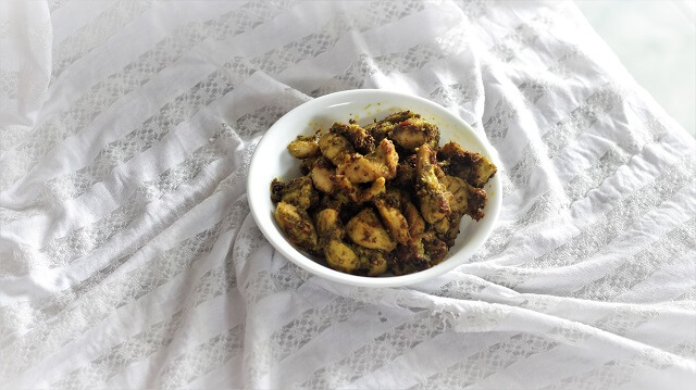 side view of andhra fry recipe