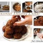Coconut Jaggery Ladoo, Nariyal Gud Ladoo, Thengai Vellam Ladoo