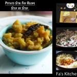 Potato Stir Fry Recipe, Aloo Stir Fry, வறுத்த உருளைக்கிழங்கு