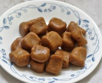 Chewy Caramel Candy made only with 2 ingredients is surely any sweet lovers delight.