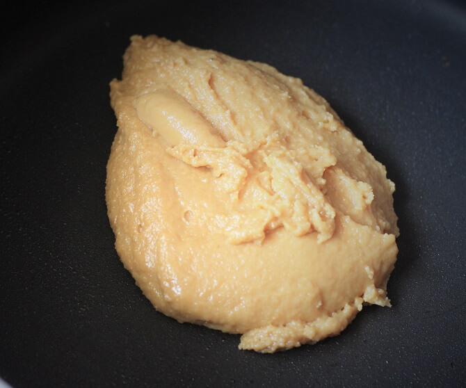 doodh peda recipe forming a lump