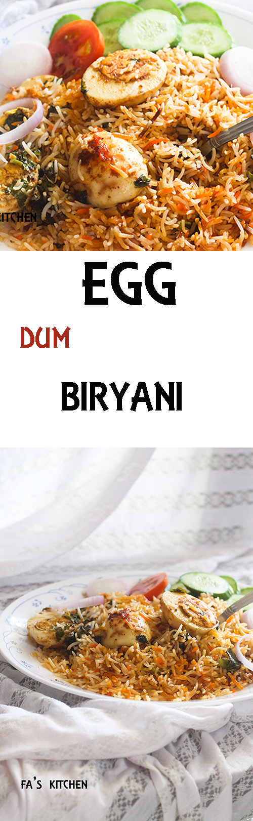 Egg Dum Biryani recipe, a very tasty and easy biryani preparation that gets ready in a jiffy. You will amazed at how easy and how tasty this recipe is.