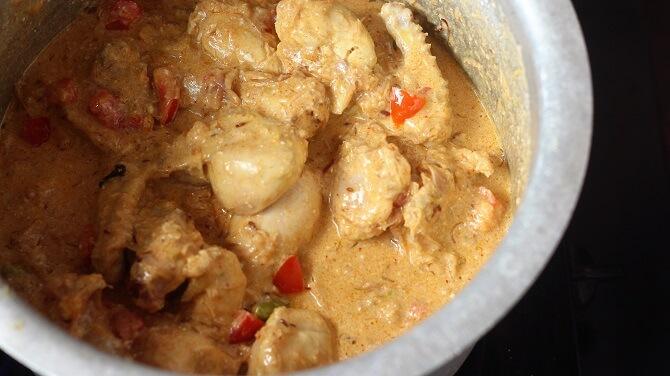 yogurt added for preparing south indian biryani