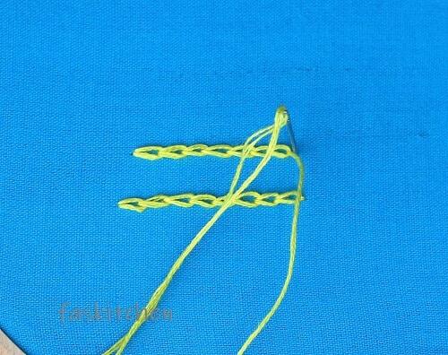 finishing the chain stitch