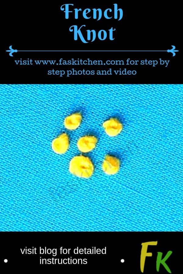 visit blog for detailed instructions on learning the french knot