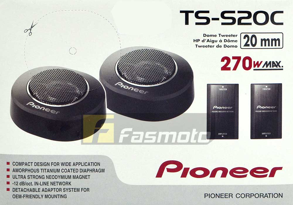 Pioneer TS-S20C 0.75 inch 20mm High Power Super Tweeter 50W RMS at 6 ohm