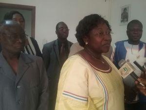 Mme la Présidente de la CIL Burkina Faso, Marguerite OUEDRAOGO BONANE à présidé la session de formation