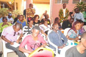 Les journalistes présents à la rencontre d'échanges