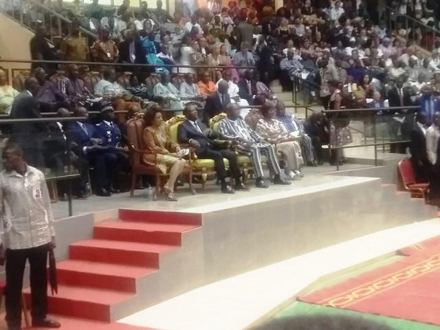 Ses excellences Rock Mark Christian Kabore président du Burkina Faso et le président Alassane Dramane Ouattara président de la cote d'Ivoire ont présidés cette cérémonie de clôture de la 25e édition du Faspaco