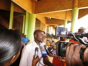 Le président du MOCAD Rahouf Bayire