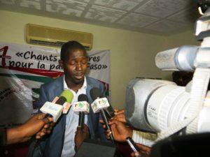 Le président de l'AJUPF Nouhoun Nikiema