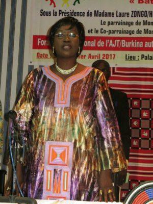 La présidente de ceremonie la Ministre de la femme, de la solidarité nationale et de la famille Madame Laure Zongo/Hien