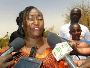 Madame la présidente de l'AJT/Burkina
