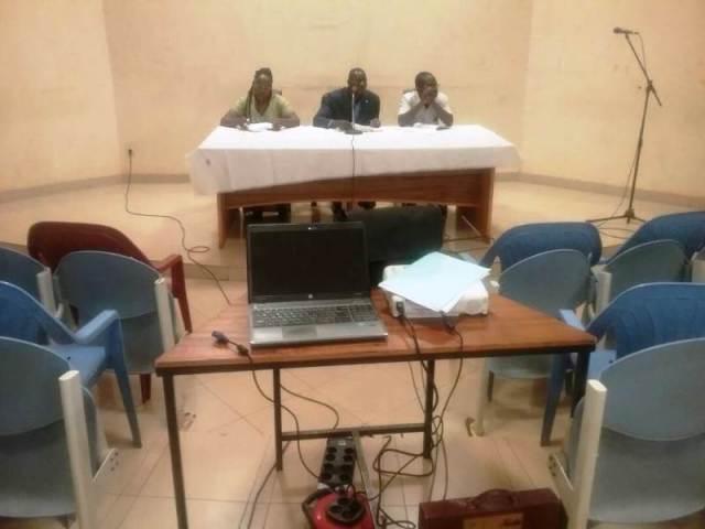 M Ky Kalidou (au milieu) à présidé la cérémonie d'ouverture de l'atelier de restitution