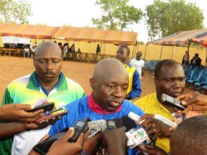 Le Ministre des sports et des loisirs M. Taïrou  Bangré