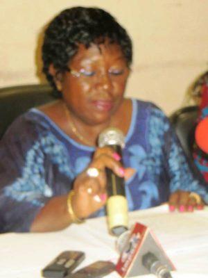 Mme Ouina Félicité la Présidente du Conseil d'administration de la burkinabé pour les droits de la femme
