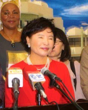Madame Nam-hee, Présidente de la Fondation internationale women peace groupe