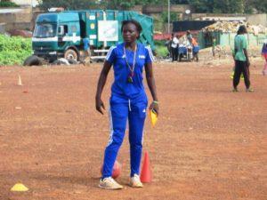 """Sana Pascaline ex joueuse du clubs des """"Princesses"""" et initiatrice de camp vacance football"""