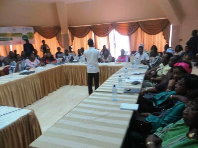 Les participants a cette rencontre de lancement officiellement du site web pour la valorisation des compétences de femmes burkinabé