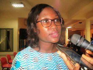 Danielle Tiendrebeogo ingénieure en génie civile, marraine de la cérémonie