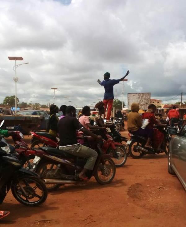 Les embouteillage sur les principaux axes routiers de la ville de Ouagadougou