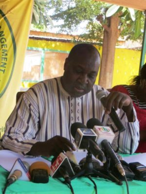 Zéphirin Diabre, président de l'UPC Burkina Faso