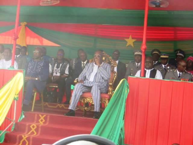Le Président Rock Marc Christian Kaboré, patron de la cérémonie.