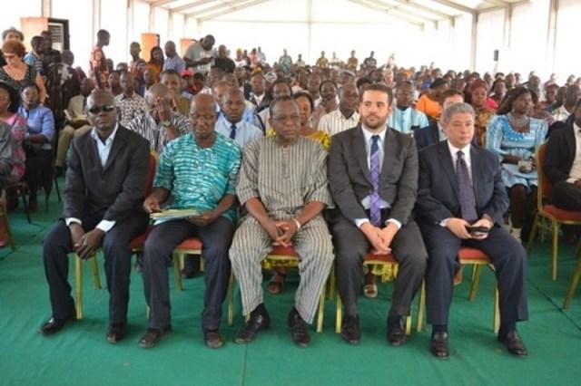 Les participants a la cérémonie d'ouverture de cette 14ème édition de la Foire internationale du livre de Ouagadougou (FILO)