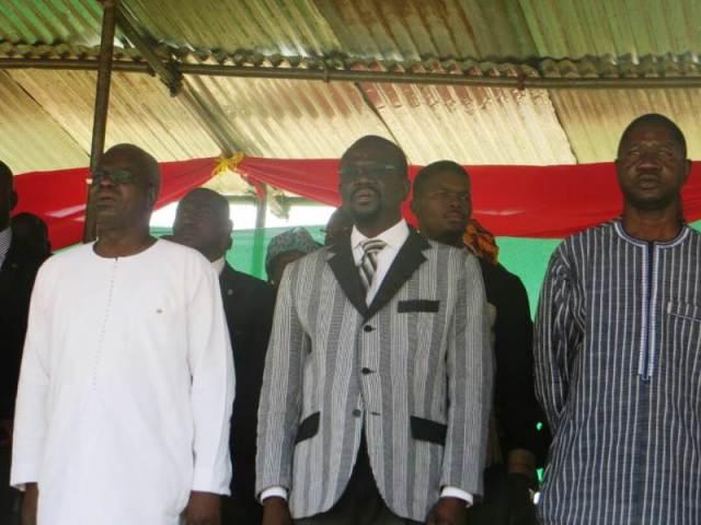 Les autorités a cette cérémonie organisée pour le baptême de l'Université de Koudougou en Université Norbert Zongo.