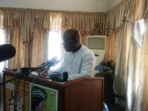 Le ministre de la communication et des relations avec le parlement, Remy Fulgance Dandjinou