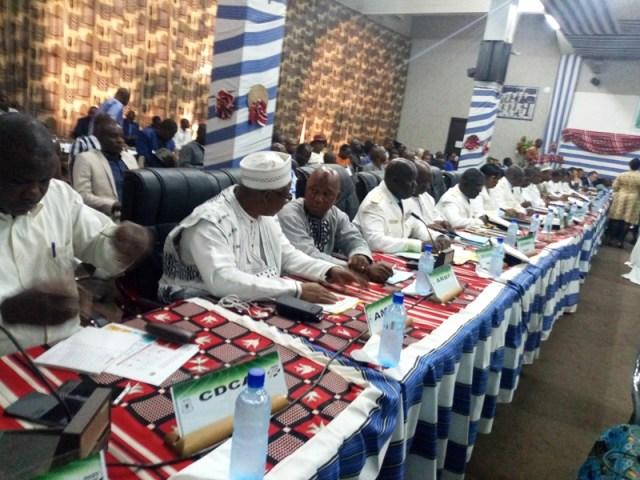 Les gouverneurs ainsi que les partenaires techniques et financiers à cette session ordinaire