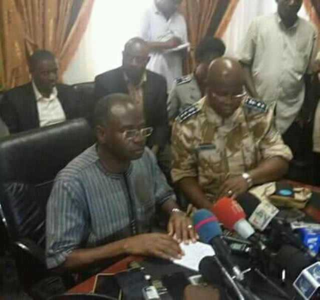 Le ministre en charge de la sécurité Clément Sawadogo