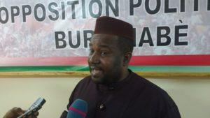 M. Mamadou Dicko de la Nouvelle alliance du Faso condamne les actions de gouvernement sur la révision du code pénal.