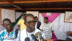 Le Directeur général du BUMIGEB, Aristide Aimé Zongo
