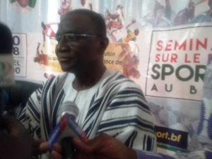 Le Ministre des sports et loisirs , Daouda Azoupiou