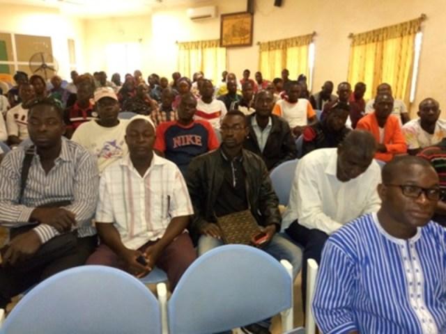 Les participants lors de cette rencontre avec la presse